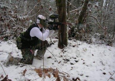 Пейнтбол зимой